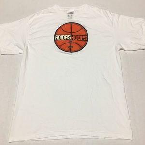 Vintage adidas hoops basketball ball logo t shirt